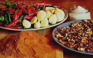 Аджика с грецкими орехами