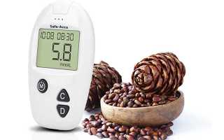 Кедровые орехи при сахарном диабете