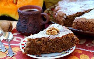 Пирог с грецкими орехами и с изюмом