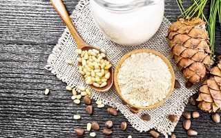 Кедровые орехи с молоком от кашля