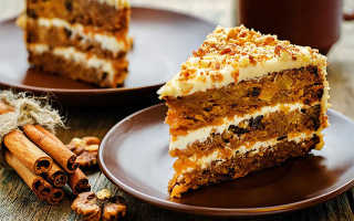 Морковный пирог с грецкими орехами